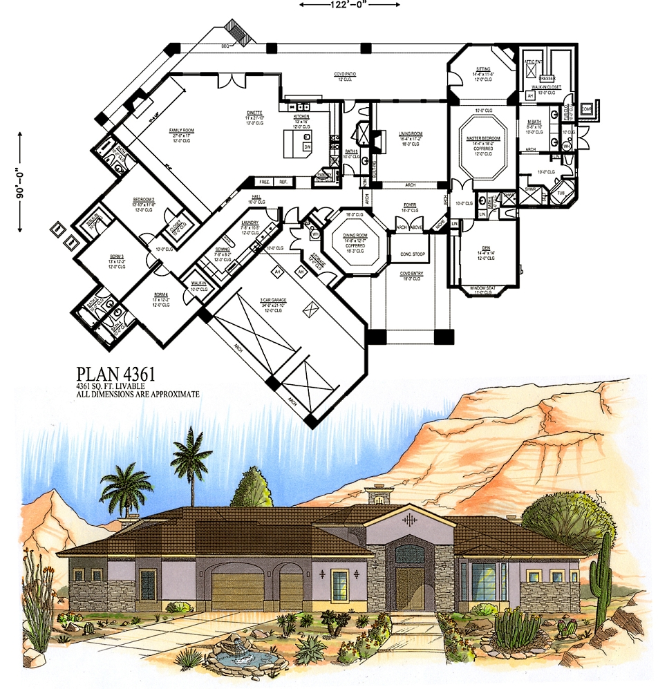 4000 square feet and larger for 4000 square foot house plans